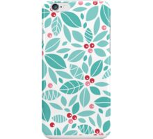 Holly berries and leaves pattern iPhone Case/Skin