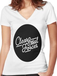 Clear Soul Forces Women's Fitted V-Neck T-Shirt