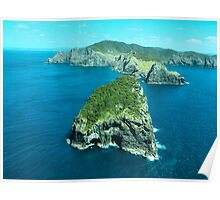 Cape Brett and Piercy Island, Bay of Islands, New Zealand.....! (2) Poster