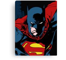 Batman x Clark Kent Canvas Print