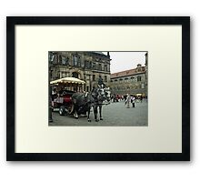 Tourist Time in The Old City Framed Print