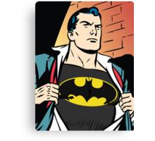 Superman x Bruce Wayne Canvas Print