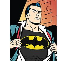 Superman x Bruce Wayne Photographic Print