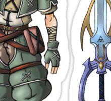 Kingdom Hearts: Legend of Zelda Sticker