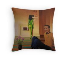 The Mad-Capt. Laughs Throw Pillow