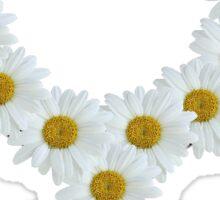 White Flower Venus Symbol Sticker