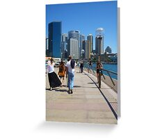 A beautiful day in the city Greeting Card