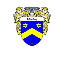 Munoz Coat of Arms/Family Crest Photographic Print