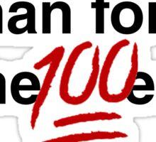 Gina Linetti - Human Form of the 100 Emoji Sticker