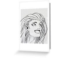 Blink? or Copycat? - Ink Drawing Greeting Card