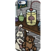 Teddy Bear and Bunny - The Rescue Came Too Late iPhone Case/Skin