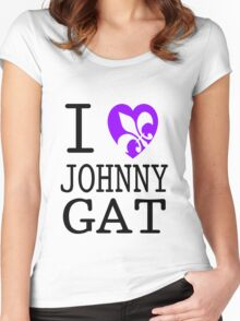 I <3 JOHNNY GAT - saints row white Women's Fitted Scoop T-Shirt