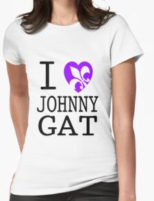 I <3 JOHNNY GAT - saints row white Womens Fitted T-Shirt