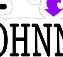 I <3 JOHNNY GAT - saints row white Sticker