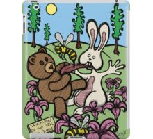 Teddy Bear And Bunny - Do Not Lick The Bees iPad Case/Skin