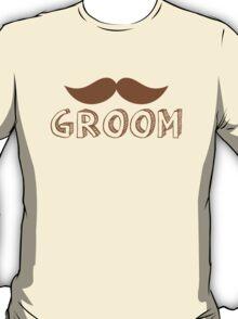 MUSTACHE theme wedding: GROOM T-Shirt