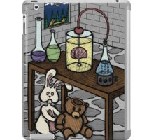 Teddy Bear and Bunny - The Rescue Came Too Late iPad Case/Skin