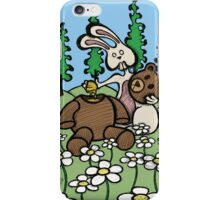 Teddy Bear and Bunny - Sweet Golden Blood iPhone Case/Skin