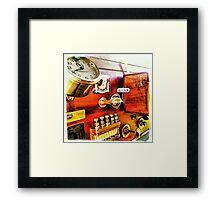 Vintage Time Travel Touring Car Framed Print