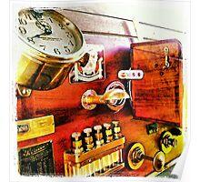 Vintage Time Travel Touring Car Poster
