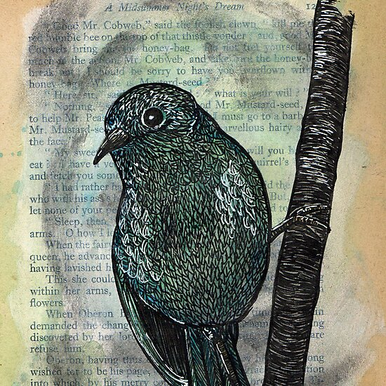 Shakespeare's Birds - September by Kelly Gatchell Hartley