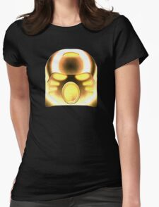 Bioncile - Tahu's Mask Gold / Metallic Design Womens Fitted T-Shirt