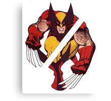 Wolverine Sliced (Blue) Canvas Print