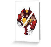 Wolverine Sliced (Blue) Greeting Card