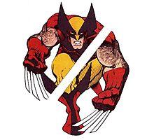 Wolverine Sliced (Blue) Photographic Print