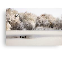Ice Oasis Canvas Print