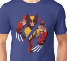 Wolverine Sliced (Blue) Unisex T-Shirt