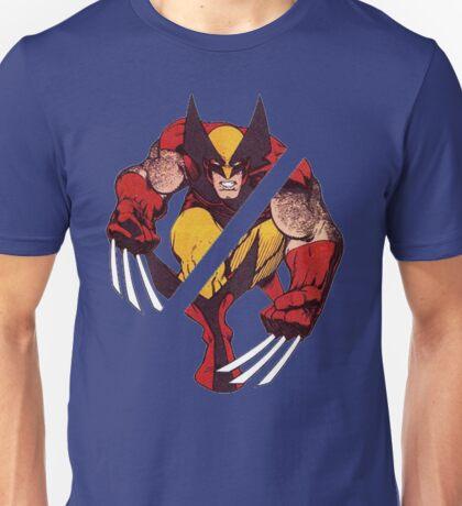 Wolverine Sliced (Blue) Unisex T-Shirt