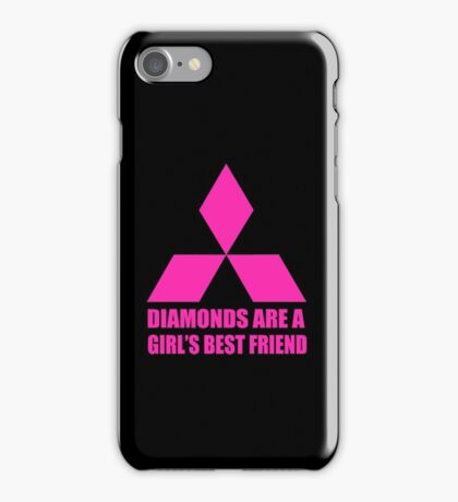Diamonds are a girl's best friend pink iPhone Case/Skin