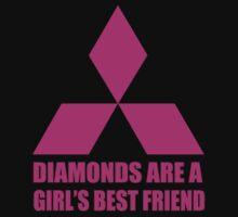 Diamonds are a girl's best friend pink by hoddynoddy