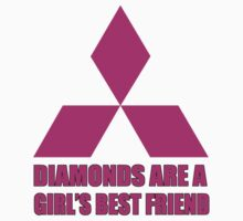Diamonds are a girl's best friend pink Kids Tee