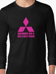 Diamonds are a girl's best friend pink Long Sleeve T-Shirt