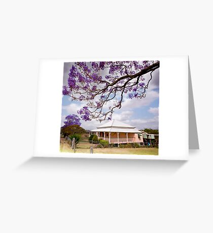 Under the Purple Canopy - Boonah Qld Australia Greeting Card