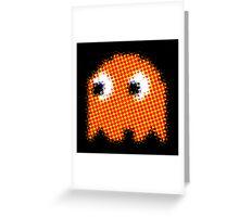 Orange PAC MAN GEEK Greeting Card