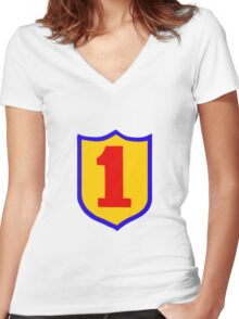 1st Infantry Division Women's Fitted V-Neck T-Shirt