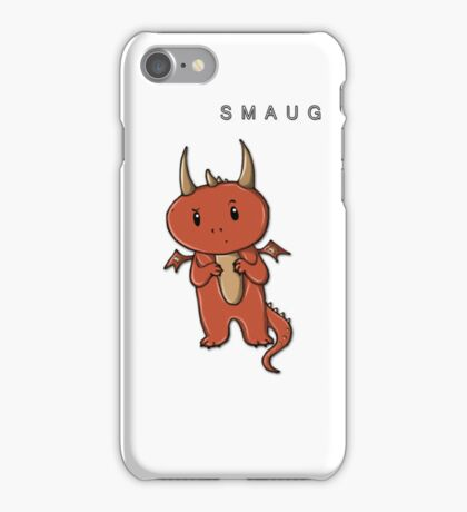 Smaug | Dragon [with text] iPhone Case/Skin