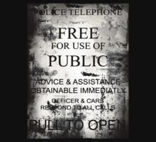 Tardis/Police Box Door Notice (Dr Who) by Marjuned