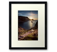 First Light at Man 'oWar Bay Framed Print