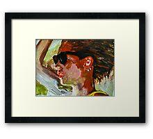 kate moss one Framed Print