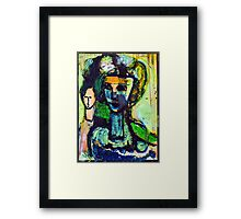 marie antoinette on the way to the scaffold Framed Print