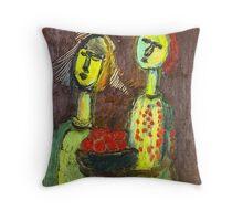 the apple vendors Throw Pillow
