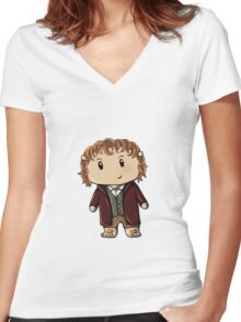 Bilbo | Martin Freeman [without text] Women's Fitted V-Neck T-Shirt