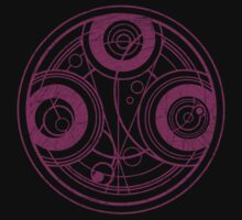 Time Lord seal - Doctor Who - Purple (Distressed) by James Ferguson - Darkinc1