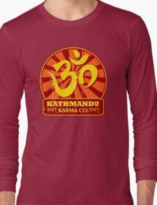Kathmandu Karma Buddhist and New Age T-Shirt Long Sleeve T-Shirt
