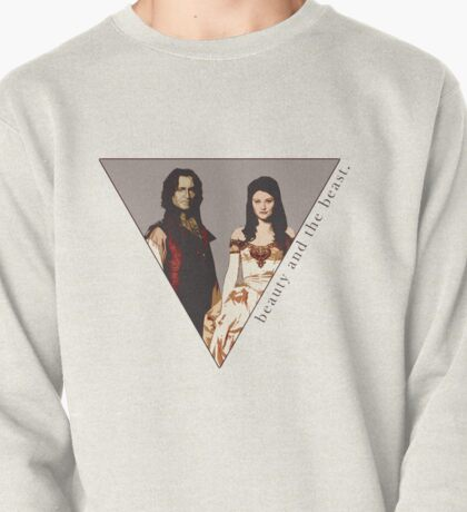 The picture of a beauty and her beast. Pullover
