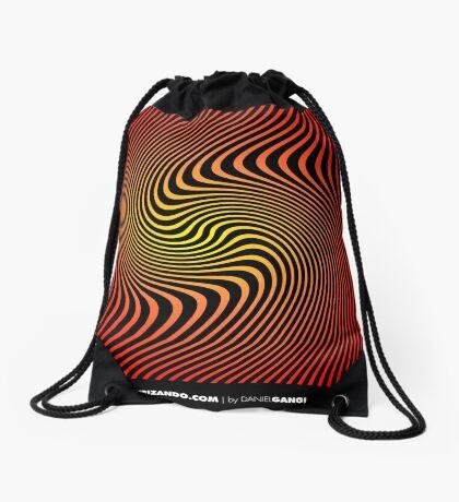 Espiral Cinético By Daniel Gangi Drawstring Bag